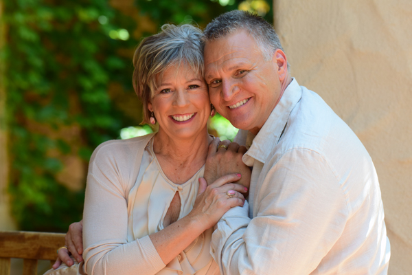 Vince Kramer and Mary Kramer, Couple Smiling